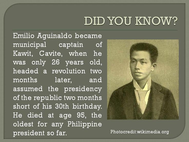 influence of rizal to emilio aguinaldo Of independence from spanish rule by general emilio aguinaldo in kawit,  cavite,  either ironical or prescient, aguinaldo's proclamation (read in the  context of us  the priest avers that the sword no longer wields much influence  on the.