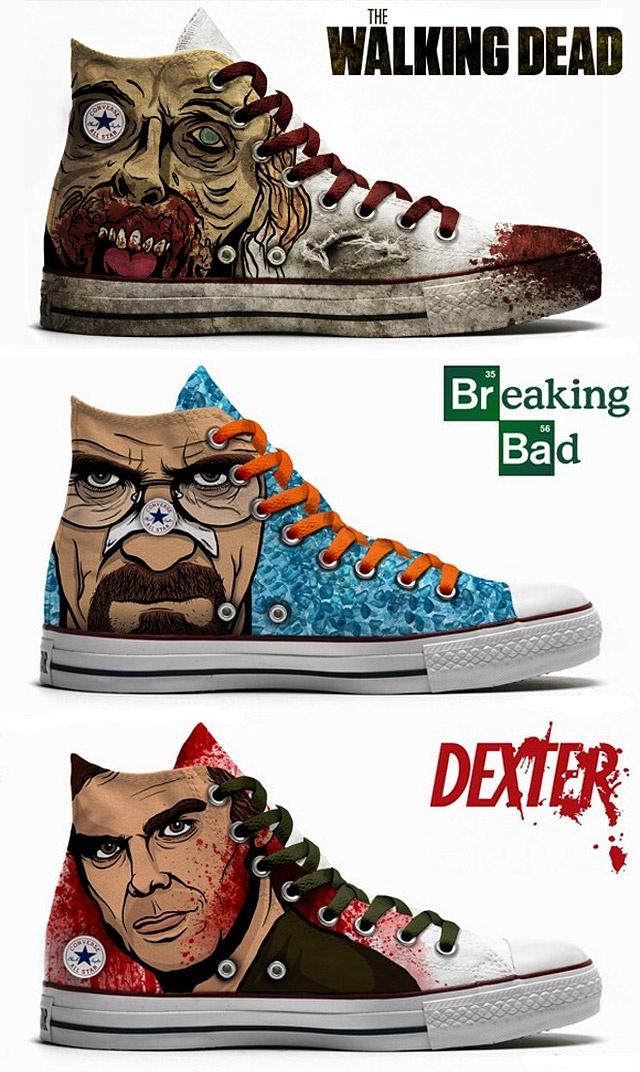 The Walking Dead, Breaking Bad, & Dexter Converse.