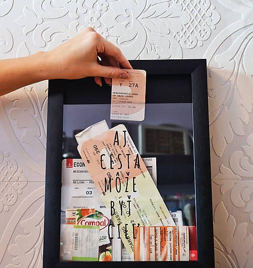 3D frame / ticket holder / keep your memories always on eye on