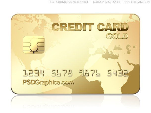 Free Gold Credit Card Design Mockup In Psd Gold Credit Card