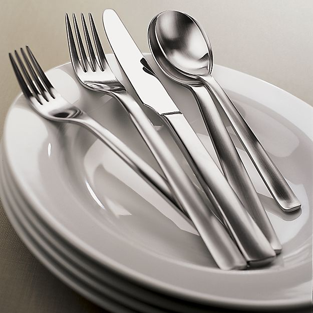 Foster 20-Piece Flatware Set in Flatware Patterns | Crate and Barrel
