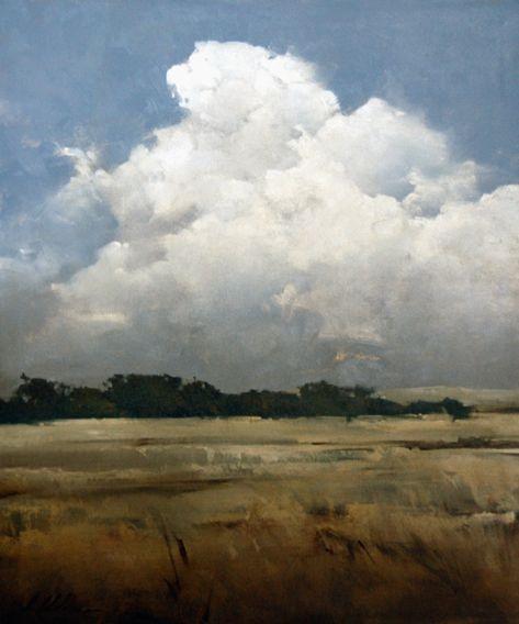 """Skies Over Cove"" - Joseph Alleman  Oil, 30in x 25in  www.mockingbird-gallery.com"