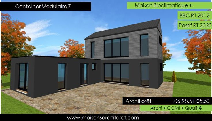 container modulaire 7 photo maison container plan etage en l bardage 771 440. Black Bedroom Furniture Sets. Home Design Ideas