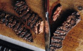 Grilled Marinated Sirloin Flap Steak / Photo by Romulo Yanes