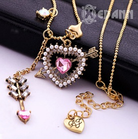 Cupido Hearts Necklace - Php 210