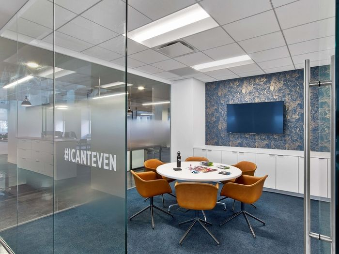 fun names for meeting rooms make everyone smile at this office.