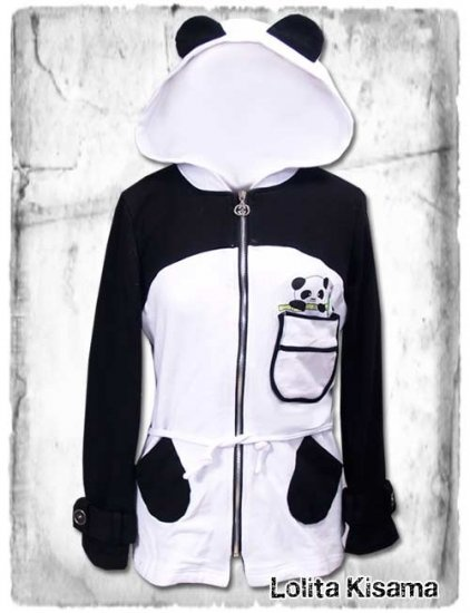 Panda hoodie, complete with panda in the pocket! SO cute.