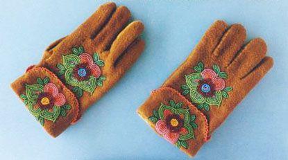 Beaded Moosehide Gloves