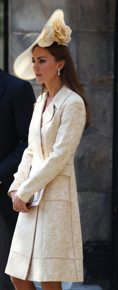 Kate Middleton , the lady in creme, beautiful hat