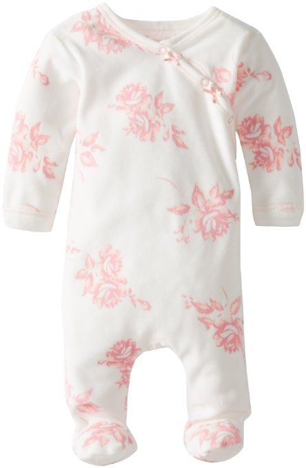 Amazon.com: Coccoli Baby-Girls Velour Floral Footie: Clothing