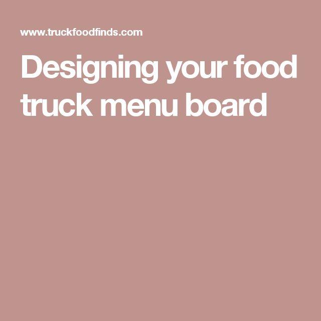 Designing your food truck menu board