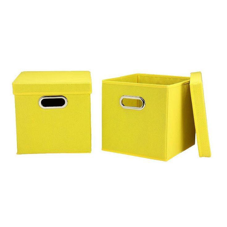 Household Essentials 2-pk. Collapsible Storage Bins, Brt Yellow