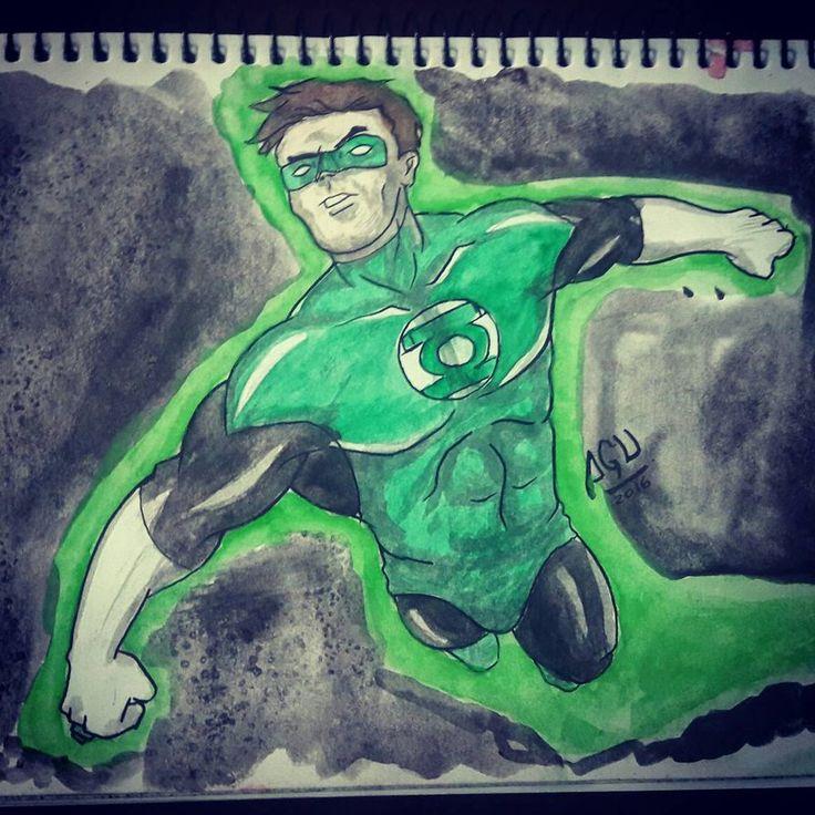 linterna verde acuarelas 02 by Agucho76