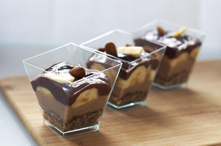 Banoffee en verrine vegan, cru, sans gluten - Sweet & Sour | Healthy & Happy Living