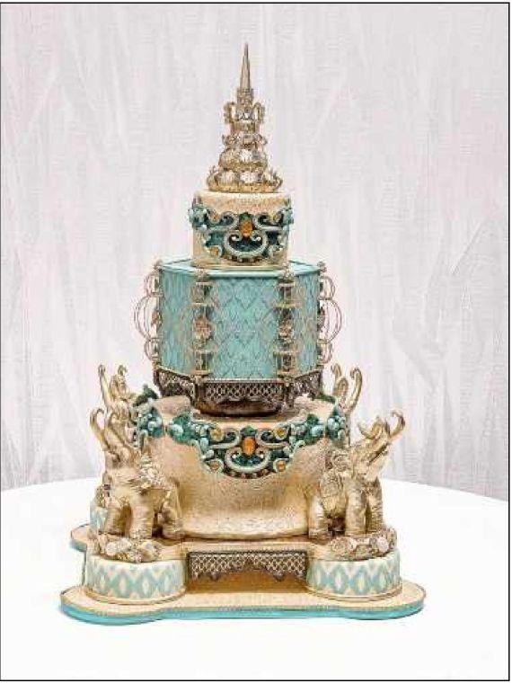 Cake Art By Jenn : Sugar Art Show Wedding Cake FRENCH BOUDIOR Pinterest