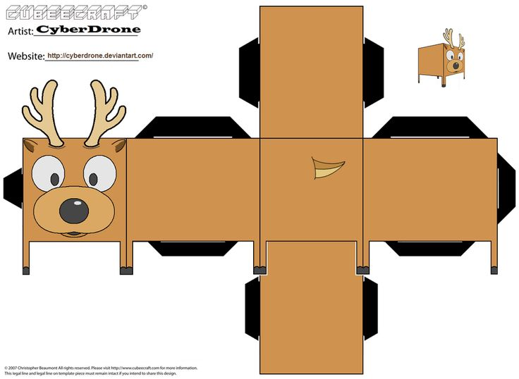 Cubee - Reindeer by CyberDrone on deviantART