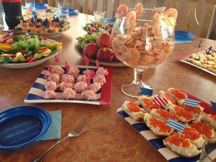 1 Birthday, sea theme, anchor, food, якорь, морская тема, вечеринка в морском стиле, Первый день рождения, детский день рождения, закуски, еда