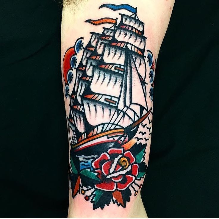 39 best Classic Ship Tattoo images on Pinterest Masculine