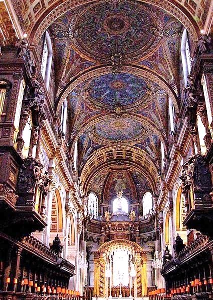 St. Paul's Cathedral in London. I had no idea it looked like this inside. Wow! I'm not a religious person, but I think churches are beautiful places. Even the small ones. I love how they smell and to look at the stained glass windows. I'm definitely going here.