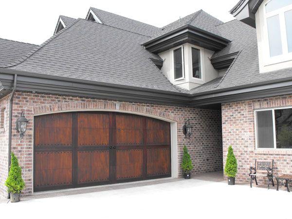 High Quality Dark Wood Garage Door