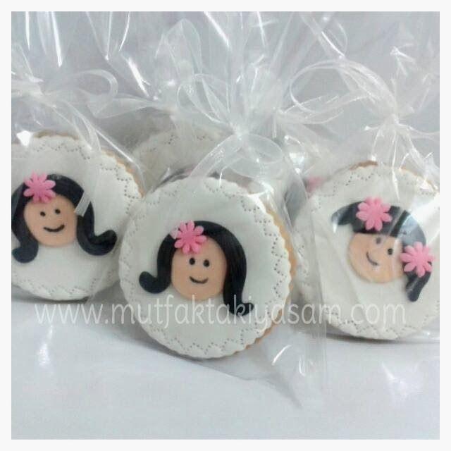 Kız çocuklar için butik kurabiyeler