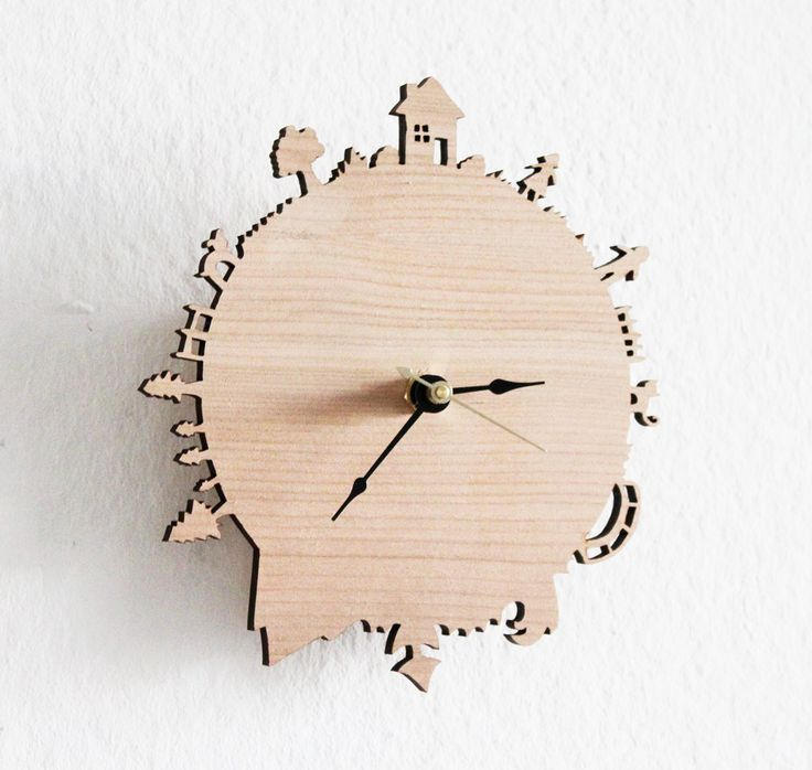 Home Sweet Home Modern Wall Clock by iluxo on Etsy, $50.00