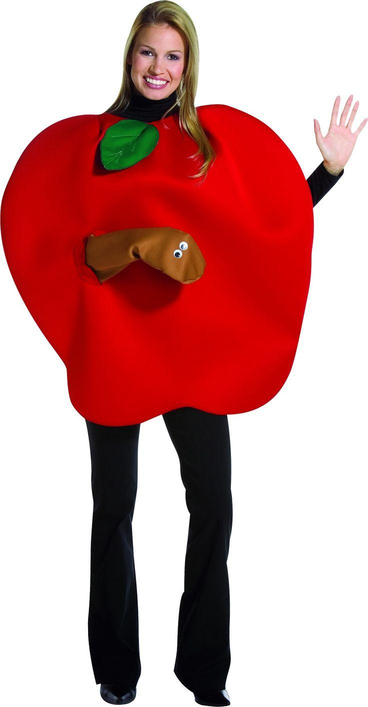 Déguisement pomme adulte : Ce déguisement de pomme pour adulte se compose d'une combinaison rouge en mousse souple (t-shirt, pantalon et chaussures non inclus). La tenue possède des ouvertures pour la...