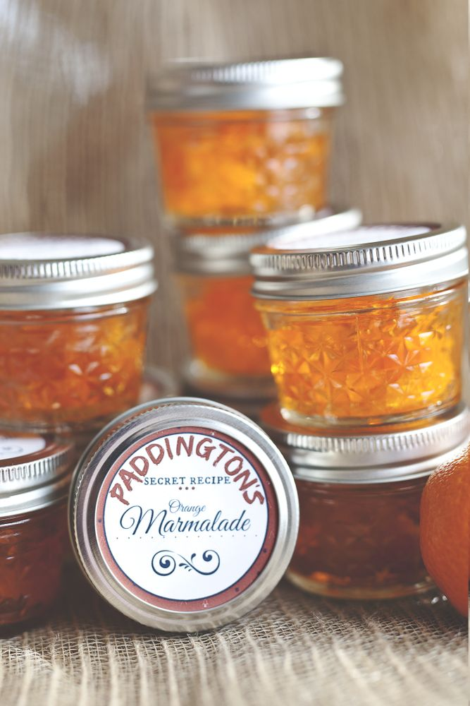 Orange marmalade at a Paddington birthday party! See more party planning ideas at CatchMyParty.com!