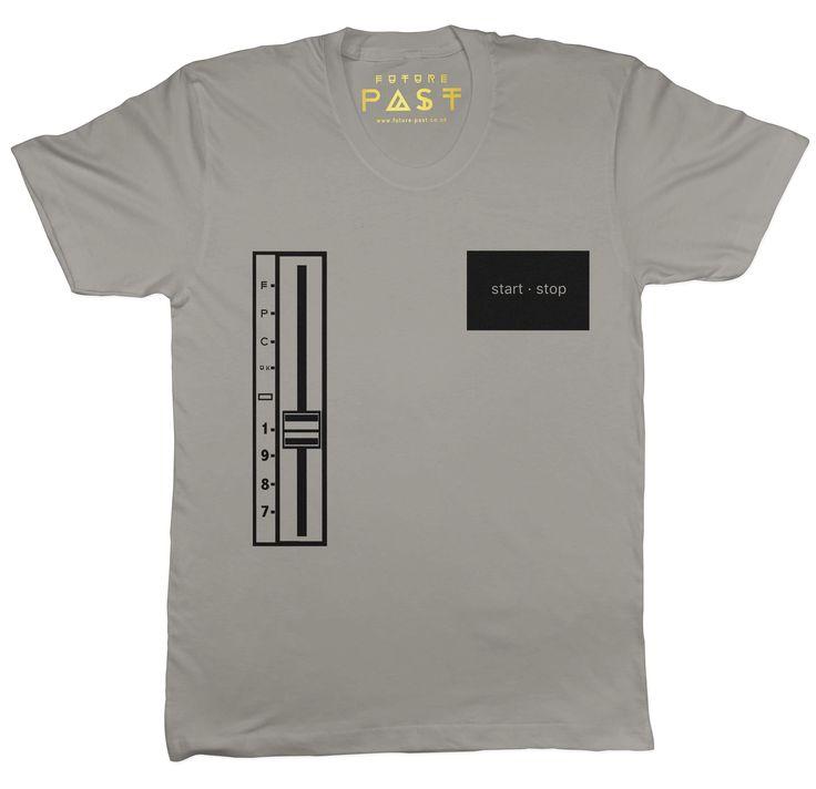 Start Stop Turntable T-Shirt / Grey  #acid #techno #house #phuture #amnesia #tshirt #clothing #dannyrampling #disco #menswear