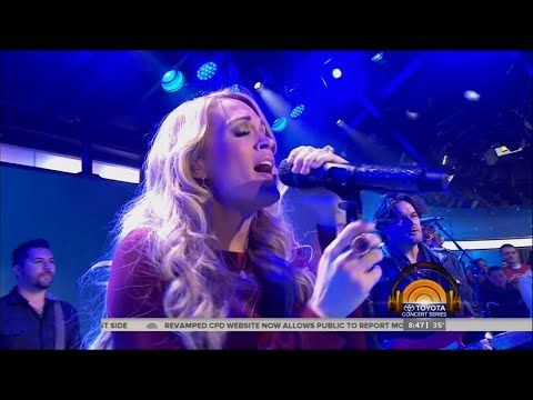 """Carrie Underwood Performs """"Something in the Water"""" on Today Show 