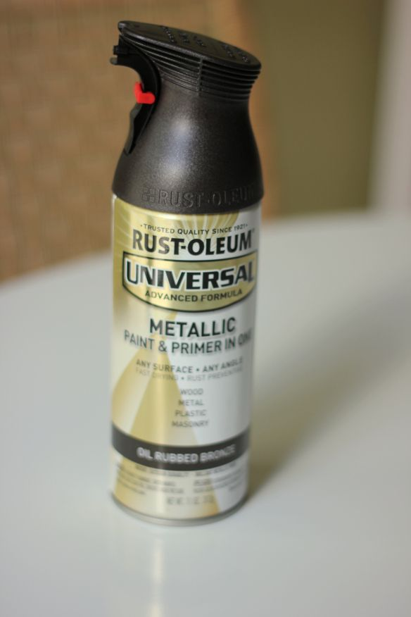 DIY Spray Paint Door Knob...Pinterest proof for Greg that it can be done!