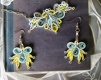 Azul y púrpura collar collar de Dama de honor flor púrpura