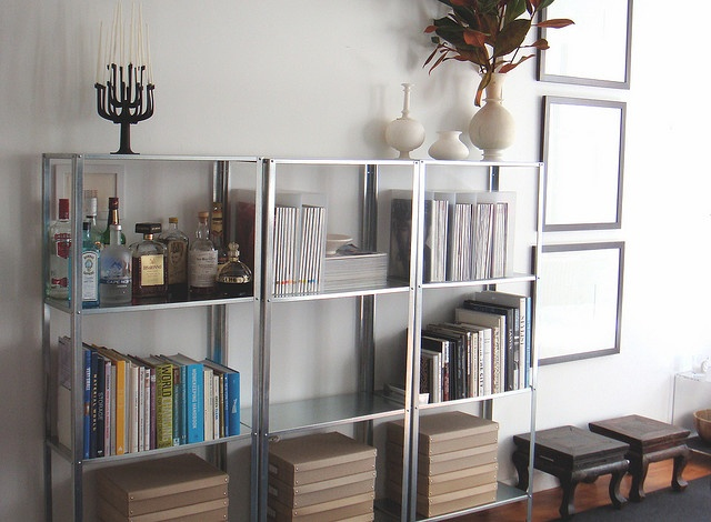 ikea hyllis shelves - living room for books too?
