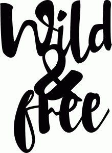 Silhouette Design Store - View Design #76452: wild & free