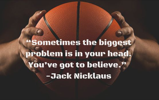 """""""Sometimes the biggest problem is in your head. You've got to believe."""" #JackNicklaus #SportsQuotes #TinCanApparel"""