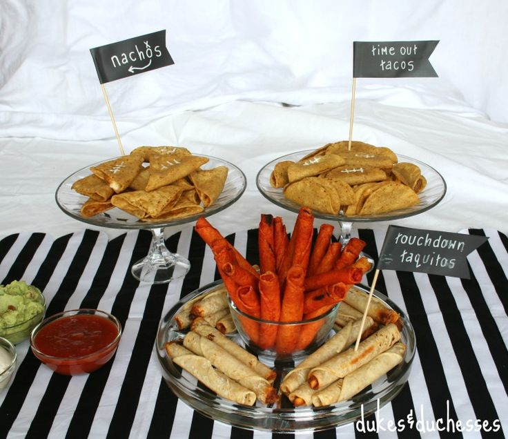 Great ideas for serving up delicious Jose Ole snacks for the Big Game from dukes & duchesses!