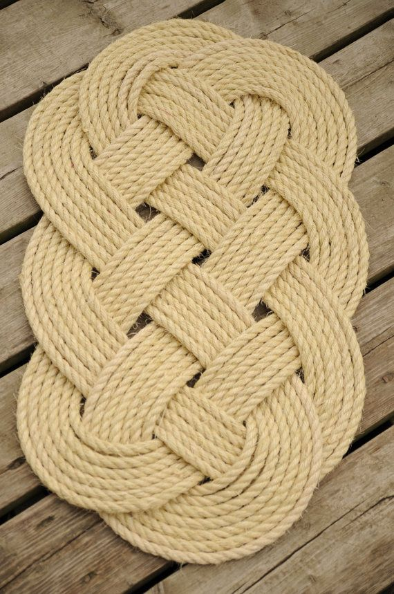 Nautical Sisal Rope Rug 29 x 16 by OYKNOT on Etsy