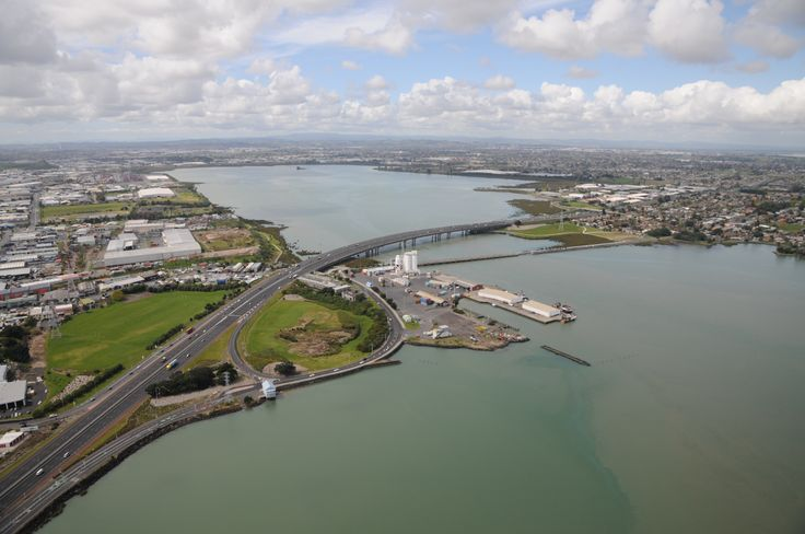 Port of Onehunga, lookiing to the Upper Harbour, Manukau Harbour, Auckland, New Zealand
