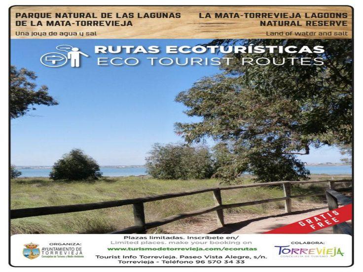 Rutas Ecoturísticas - Parque Natural De Las Lagunas De La Mata - Torrevieja. Tres tipos de rutas guiadas gratuitas para mostrarte el gran patrimonio ambiental y cultural de uno de los humedales más importantes de la Comunidad Valenciana #TuPlanCostaBlanca #DisfrutaYAprende  + info:
