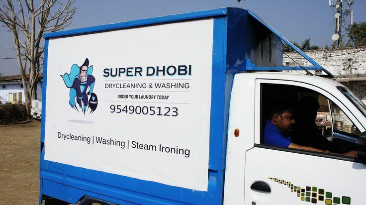 SuperDhobi Delivery van