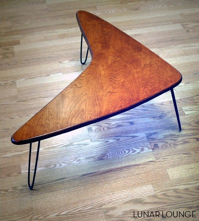Booma Mid coffee table  Eames Era  Mid Century Modern Atomic Design by LunarLoungeDesign on Etsy https://www.etsy.com/listing/51780823/booma-mid-coffee-table-eames-era-mid