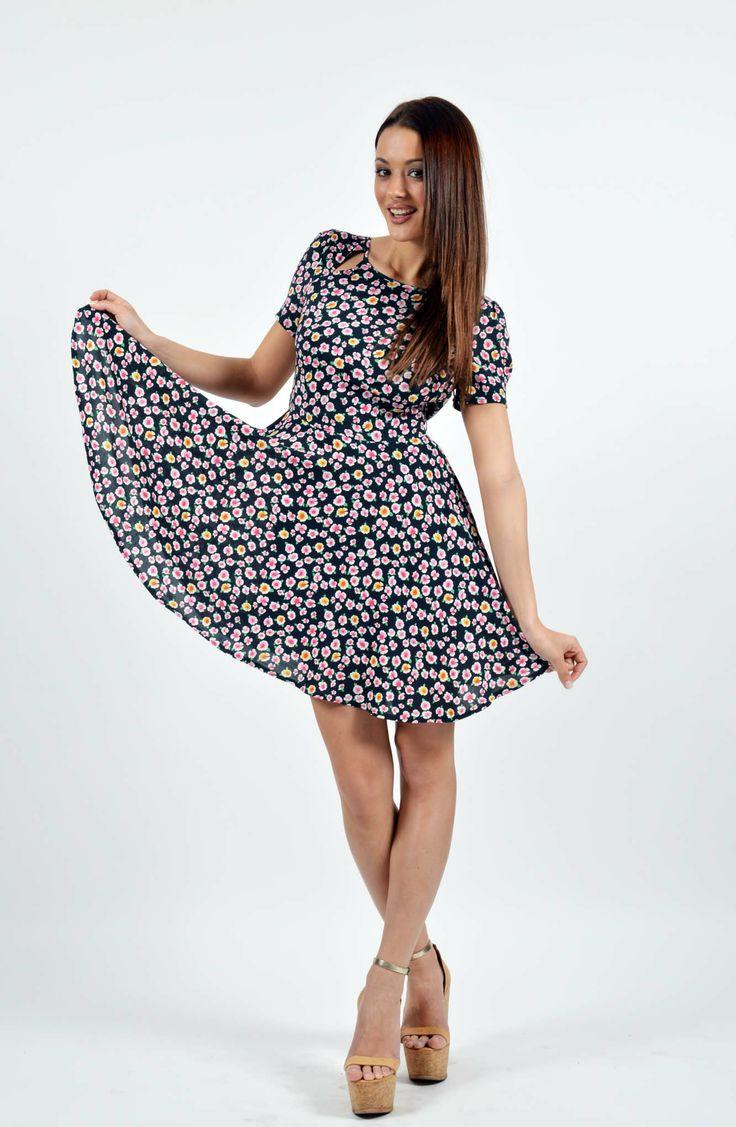 Flower Print Φόρεμα