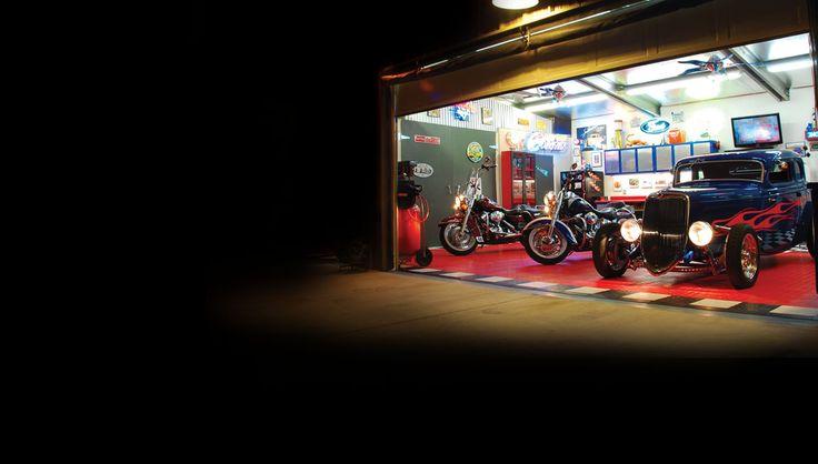 Man Cave Garage Lighting : Best images about custom garages on pinterest