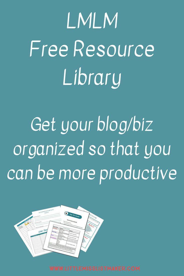 Little Miss List Maker Resource Library Blog Tools Blogging Guide Blogging Advice