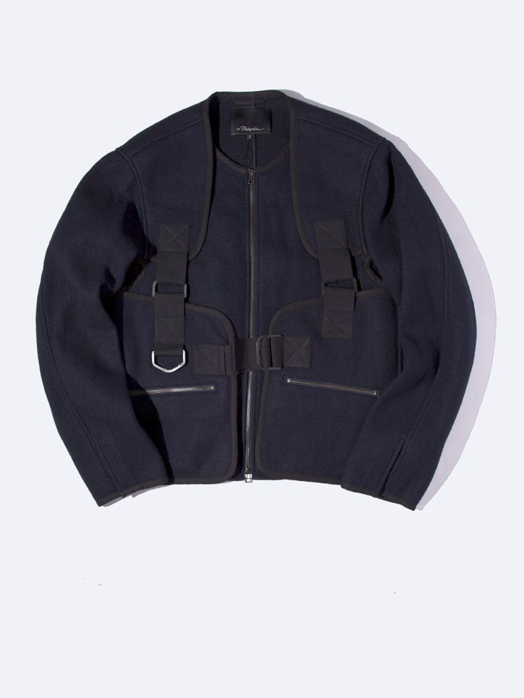 Para Strap Zip Up Jacket
