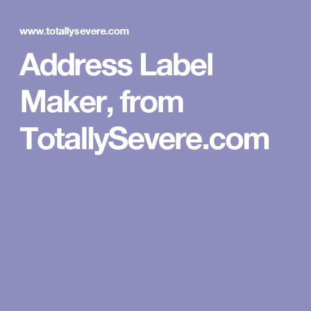 Más de 25 ideas increíbles sobre Address label maker en Pinterest - address label format