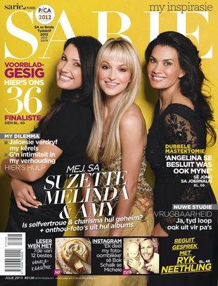 Suzette, Melinda en Amy! Pragtig op die voorblad van jou Julie-uitgawe van SARIE + Wie is ons Top 36 Voorbladgesig-finaliste? Te koop vanaf 17 Junie