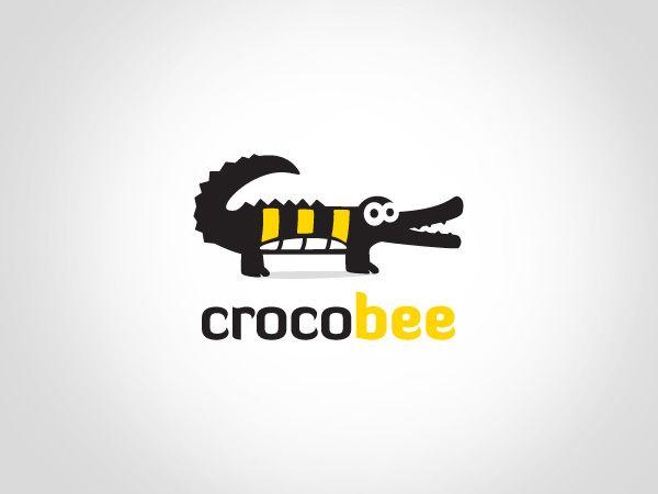 Logo Design by Goh for crocobee #animal #crocodile #bee #design #logo #DesignCrowd