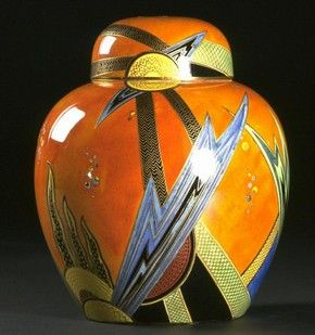 Jazz jar and cover, Enouch Boulton, about 1928. l Victoria and Albert Museum