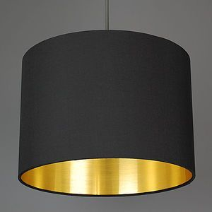 Brushed Gold Lined Lamp Shade Choice Of Colours - metal is officially the material of the moment in homeware and jewellery.
